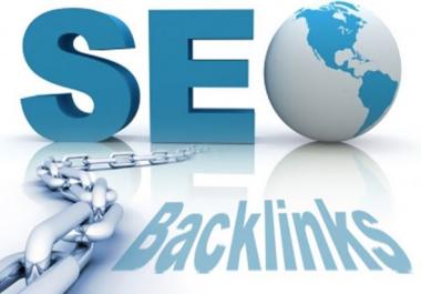 Create 100 High PR Backlinks SEO