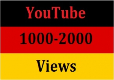 1000 to 2000 youtube retention views 24-48 hours completed