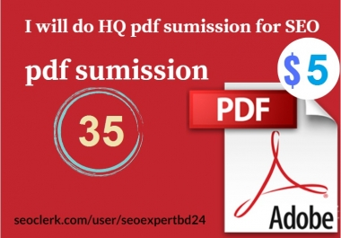 I promote your website by HQ pdf submission for seo