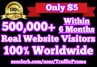 500,000 Real Human Website Traffic within 6 Months