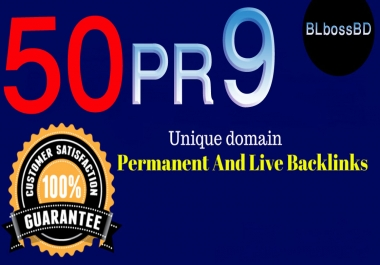 50 PR9 70+ Domain Authority SEO Backlinks For increase your Web Ranking