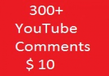 300+ Youttube custome commants Life Time Guaranteed 20-24 Hours Super Fast delivery