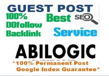 Real Dofollow Guest Post On PR5 US Based Website Abilogic.com [DA65+]