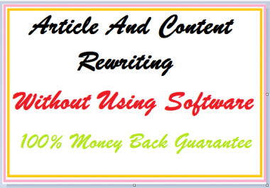 Do Article And Content Rewriting