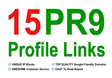 Get TOP 15 High Authority Profile Backlink for better ALEXA rank