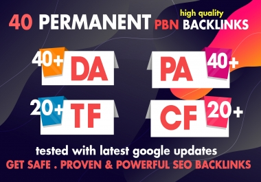 2020 Strong 40 High Metrics PBN With 4000 2nd Tiers Backlinks