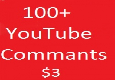 Guarranteed 100+ manual  youttube custome commant Life Time Benefits 5-6 Hours Delivery