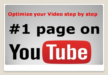 Get  Full optimize your Video step by step Instant start, Quality Work, with fast delivery