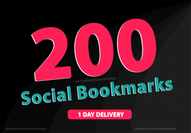 add 200 social bookmarking backlinks for Rank Your website High In Google Ranking