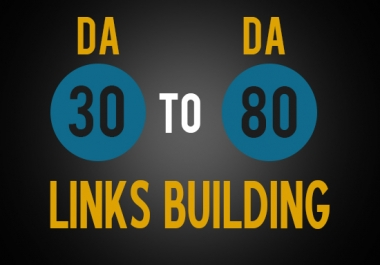 build 100 DoFollow Backlinks and 10 high PR backlinks with 30 - 80 DA & PA