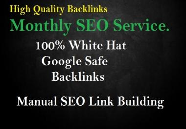 Create high da Backlinks, Monthly SEO Service
