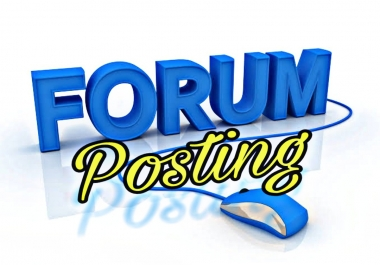 Offer 24 High Quality Forum Posting Backlinks