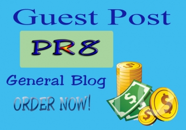Guest Post On PR8 Dofollow  DA 90+ High-Authority Site