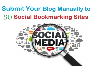 Get you High Quality Backlink on 30+ Social Bookmarking site PR5 to PR9