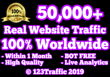 50,000 Real Human Website Traffic