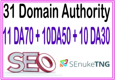 Boost your Site Alexa Rank with 31 (Domain Authority) 11 DA70+10 DA50+10 DA30 Backlinks