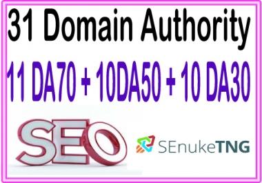 Boost your Site Alexa Rank with 31 (Domain Authority) 11 DA70+10 DA50+10 DA30 Backlinks