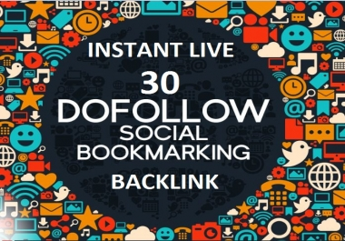 Instant live 30 High PR Social Bookmarking backlinks with in 24 hours