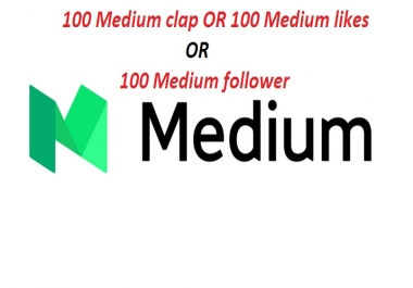 Get manually 100 Worldwide Medium UpVotes or Clap