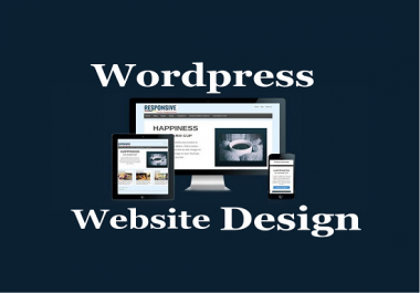 Design A Professional Wordpress Website or Blog