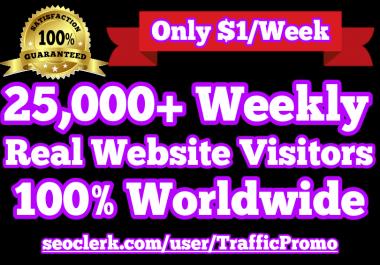 25,000 Real Human Website Traffic Weekly