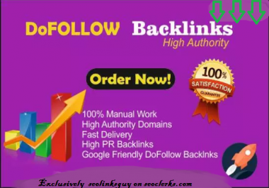 Manually Create 55 Dofollow Google Dominating Seo Backlinks