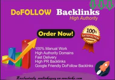 Manually Create 55 Dofollow Google Dominating Seo Backlinks