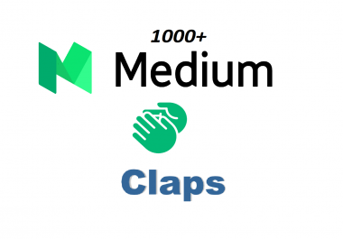Provide you 1000 Worldwide medium claps within few hours complete