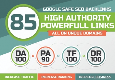 TOP OFFER--Build 85 Unique Domain SEO Backlinks On TF100 DA100 Sites Only AladdinSEO