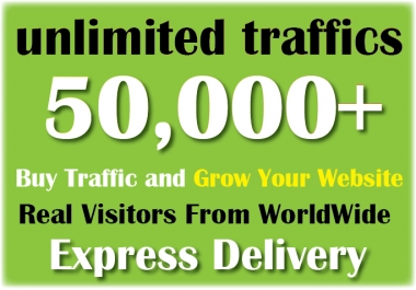 Drive 50k+ or 50000++ REAL Human Worldwide Website Traffic Or Visitors To Your Blog