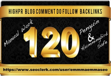 120 high trust flow,citation flow dofollow backlink blog comment with high da pa