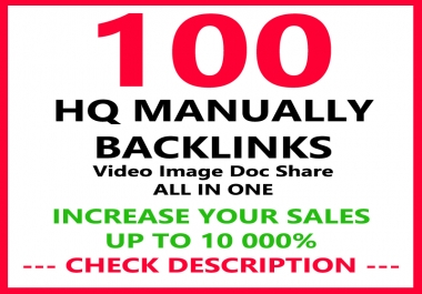 give your google ranking with top seo 100 backlinks