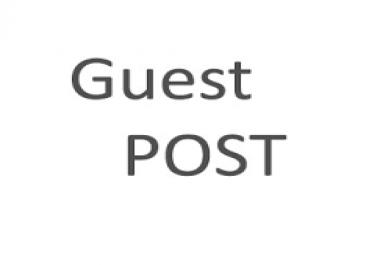 Guest post on a tech site having DA 74
