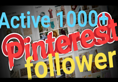 Provide active 100+ real pinterest follower