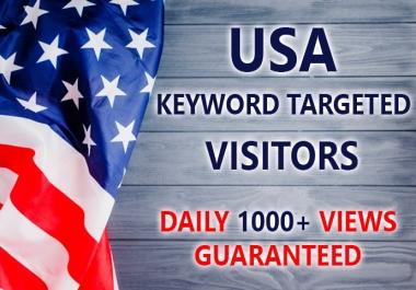 20,000 completely safe USA keyword targeted traffic