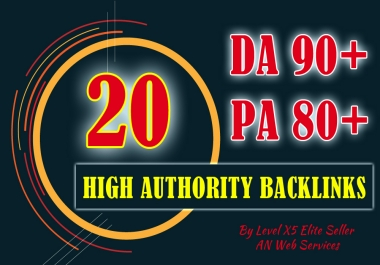20 High Authority Backlinks DA90+ PA80+ Ultimate Domain Authority Booster