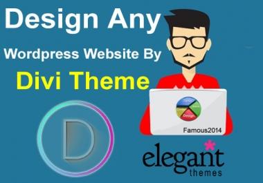 Design Any Wordpress Webiste By Divi Theme