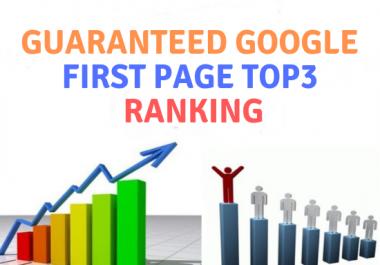 Guaranteed google top3 ranking service