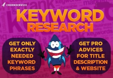 Custom offer for my client seriousman21-  Keyword Research Service