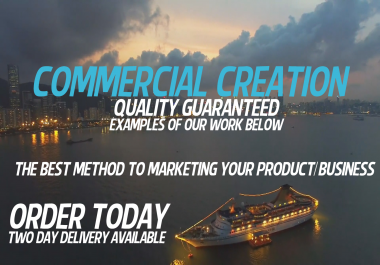 PREMIUM 30-60 Second Commercial Creation for your Product/Business