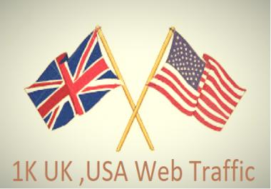 1K USA UK Keyword Targeted Web Traffic