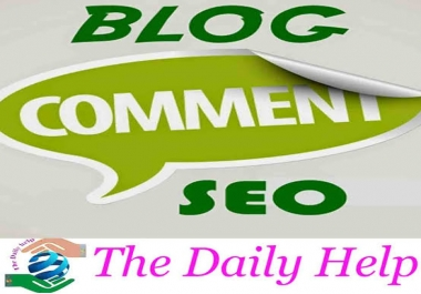 Guaranteed 35 High Quality  Blog Comment very fast within 24-36 Hours Complete