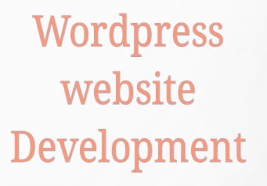 wordpress website create and development any kinds for cheap