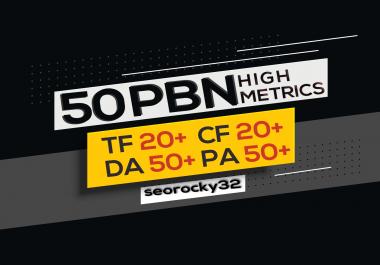 50 Manual High TF CF DA PA 20 + to 50 Homepage PBN With 2000 2nd Tiers Backlinks