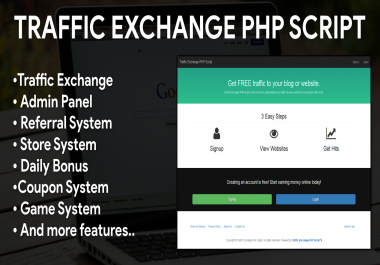 Manual Traffic Exchange System PHP Script