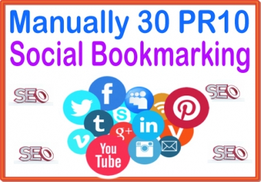 Rank on Google Alexa by exclusive manually 30 Social Bookmark Backlinks