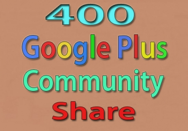 share your 400 biggest Google plus community SEO signal