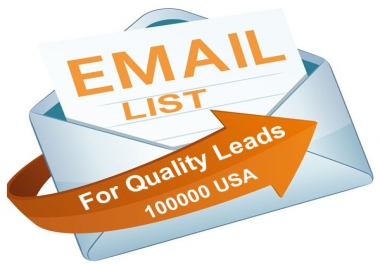 100K USA Email List To Skyrocket Your Business or Get Leads