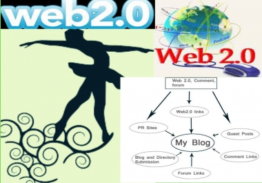 I am able to create 26 Authority Web 2 blog with image, manual seo back link