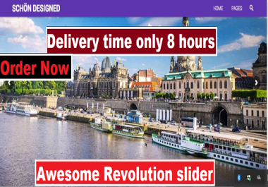 Build your wordPress website revolution slider very fast